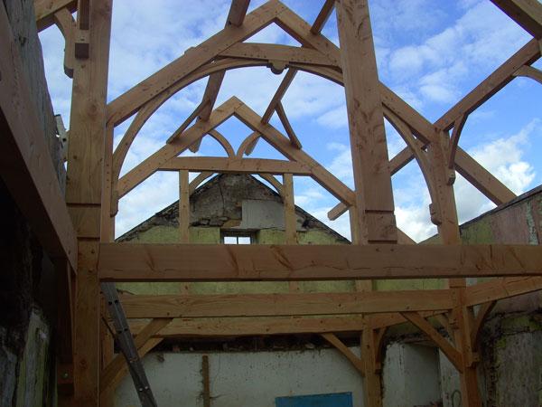 Post And Beam Ireland Wooden Posts Wooden Beams